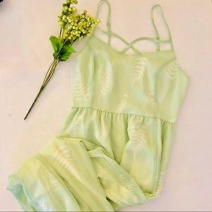 ModCloth envision the fern sage maxi dress Sz M